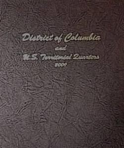 Dansco Us District Of Columbia And Territories Quarter Coin Album 2009  7144