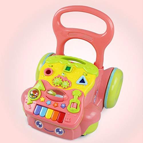 YXXHM- Walker Trolley Baby Juguetes Musicales 6-7-18 Meses Niño Anti-Rollover Coordinación Ojo-Mano-Intercambio De...