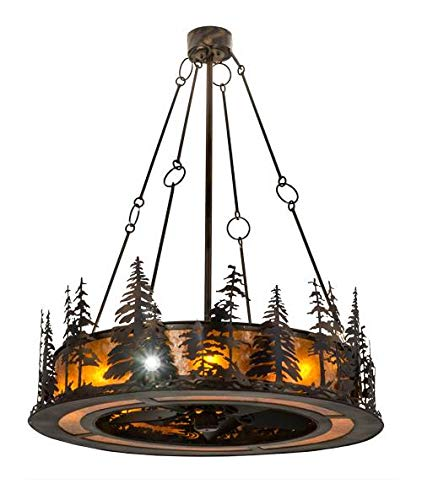 Tall Pines Chandelier in Antique Copper and Burnished Finish