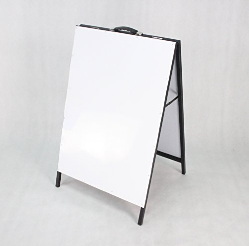 Fixture Displays A-Frame Metal Board White Dry and Wet Erase Sidewalk Sign 1134 by FixtureDisplays