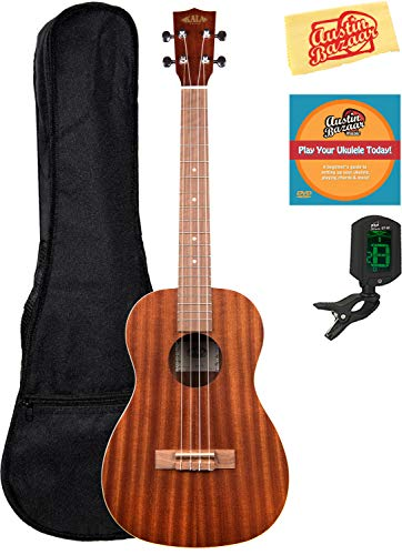 Kala KA-B Mahogany Baritone Ukulele Bundle with Gig Bag