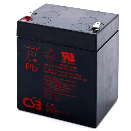 CSB GP672F1-6 Volt//7.2 Amp Hour Sealed Lead Acid Battery with .187 Fast-on Terminal