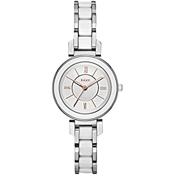 DKNY Womens Ellington Quartz Stainless Steel Casual Watch, Color:Silver-Toned (Model: NY2588)