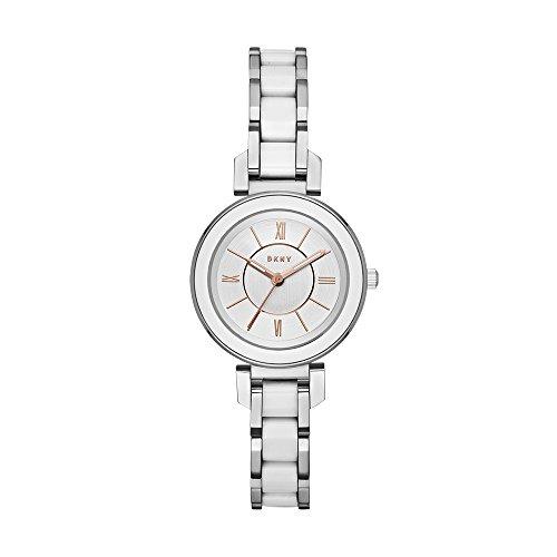 (DKNY Women's Ellington Analog-Quartz Watch with Stainless-Steel Strap, Silver, 10 (Model: NY2588) )