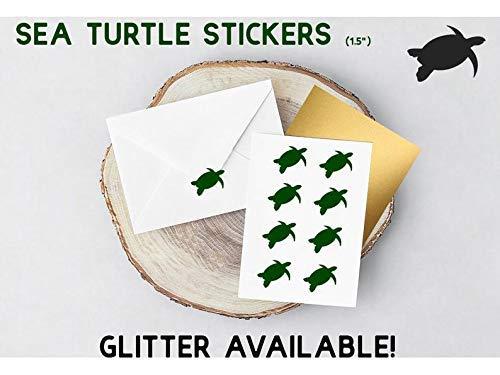 1.5 inch Planner Stickers Envelope Sealer Sea Turtle Stickers Removable Vinyl