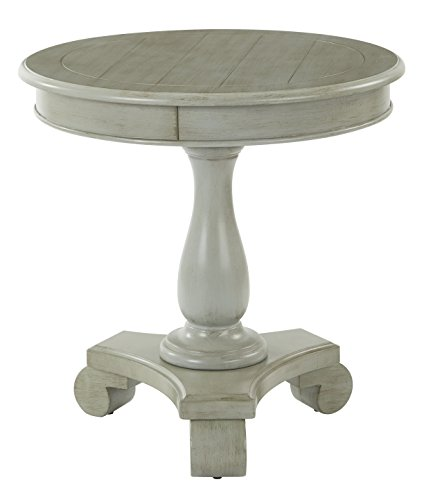Antique Black Accent Table - 5