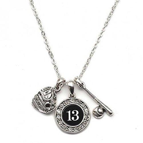 - MadSportsStuff Custom Player ID Softball Necklace (#13, One Size)