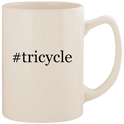 #tricycle - White Hashtag 14oz Ceramic Statesman Coffee Mug Cup