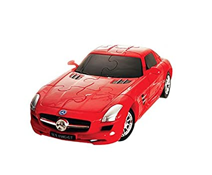 Lovely 3d Super Car Puzzle, Mercedes Benz SLS Amg Gt 1:32 Model, 62