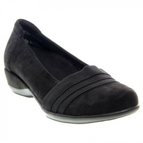 Aetrex Women's Valerie Slip-On Black Lamb Suede/Stretch 10.5 M US by Aetrex