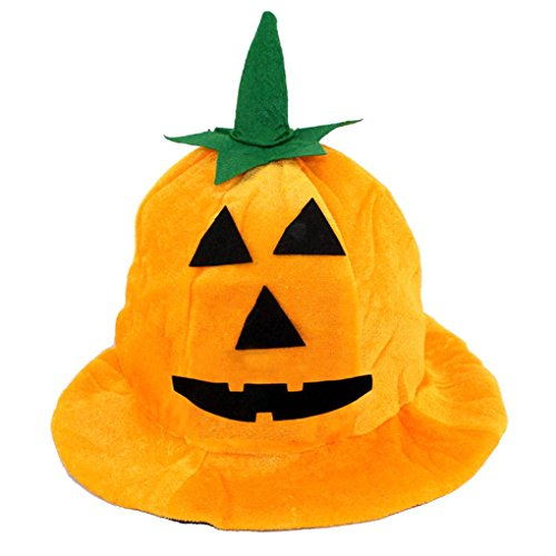 Children Pumpkin Cool Witch Hat for Halloween Costume Accessory Kids Home School Holiday Party Hat Props Random -