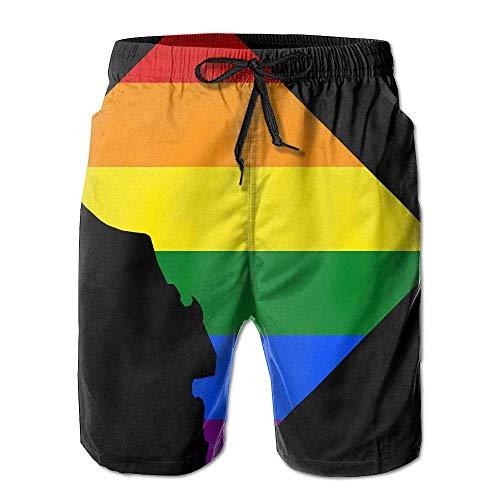 Washington, D.C. Map Gay Mens Summer Beach Shorts Household Pants Pockets