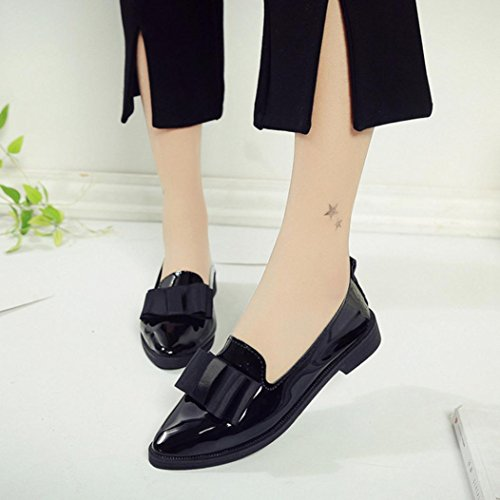 Black Pointed Low Women Silver a AIMTOPPY Casual Flat Shoes Shoes HOT US Toe Sale 8 Ladise Heel pHqZWEAUBc