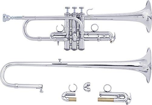 Bach ADE190 Stradivarius Artisan Series Eb/D Trumpet ADE190S Silver by Bach