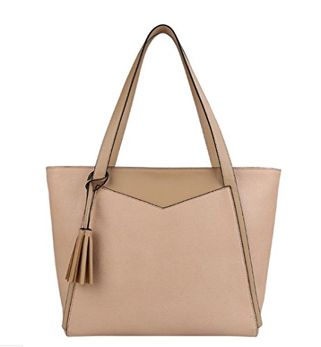 Leather Brown Apricot Office Shoulder Hobo Women Leather Large Trapeze Designer Casual Handbag Pinchu Bag AxUvqw6xH