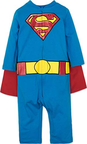 Warner Bros. Batman & Superman Baby Boys' Costume Coveralls with -