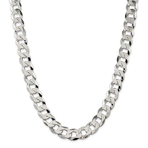 ae1d84b2ade0 De alta calidad Plata de Ley 13 Mm Biselado Bordillo Cadena Collar – Pinza  de Langosta