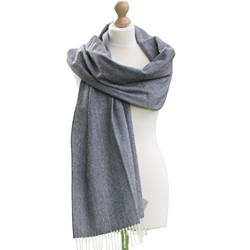 Irish Merino Cashmere Ladies Wool Pashmina Shawl Wrap 19.5