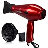 Magnifeko 2000W Professional Hair Dryer with Ionic Conditioning - Powerful, Fast Dry Blow