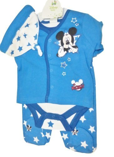 - Disney Mickey Mouse 4 Piece Outfit for Baby Boy 0-3 Months (Official Size-3 Months)