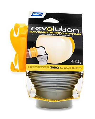 Camco 4-in-1 Sewer 39471 Revolution Swivel Bayonet Elbow and 4 in 1 Adapter