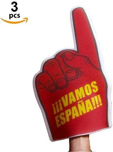 Fun Fan Line - Manos de Espuma Pack 3 Unidades - Diseño Países (22 x 40 cm) (España): Amazon.es: Deportes y aire libre