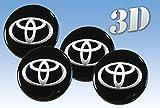 toyota logo sticker - Wheel stickers Toyota imitation all size Centre Cap Logo Badge Wheel Trims 3d (50mm.)