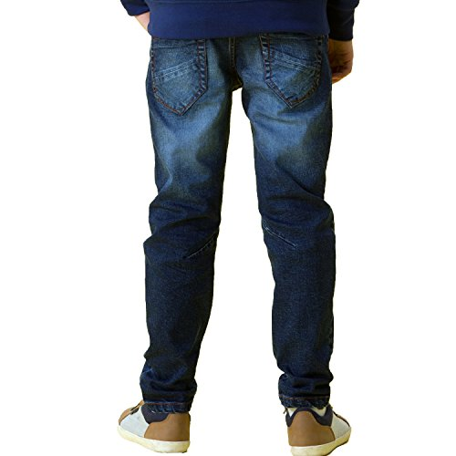Leo&Lily Big Boys' Jeans, Navy, 12 by Leo&Lily (Image #3)