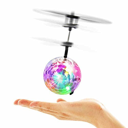 Flying Ball RC Toys for Children Goo Play for Kids Ball Helicopter Gifts for Kids Built-in-Shinning LED Disco Light.Induction Ball Children Play Indoor and Outdoor Gifts for Kids Boys and Girls Toys