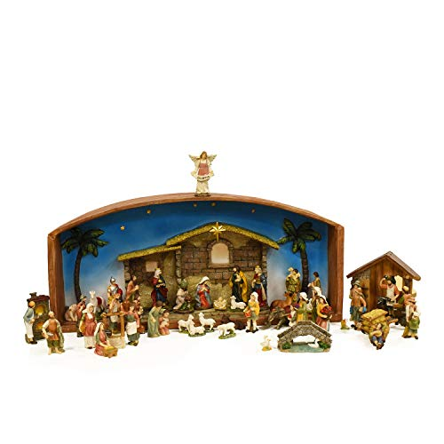 52-Piece Religious Christmas Nativity Village Set with Holy Family ()