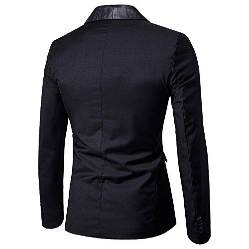 Slim Noir Manches Longues Blazer Fashion Costume Tailleur Veste Coat Ol D'affaire Dihope Jacket Homme Formel Mariage qwXTZZ