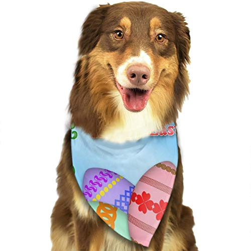 Dog Bandana Triangle Scarfs Puppy Bibs Accessories, Easter Egg, for Dogs, Cats, Pet Birthday Party Gifts Supplies