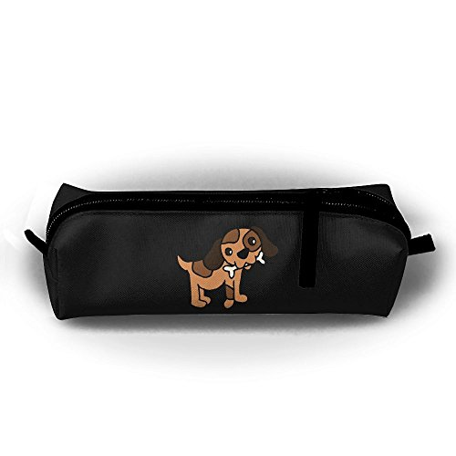 Rfhbjthir Bulldog Bull Dog Unisex Stationery Pouch Zipper Cosmetic Bags Cylindrical ()
