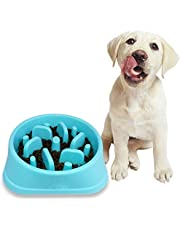Diagtree Pet Fun Feeder Dog Bowl Slow Feeder Bloat Stop Dog Food Bowl Maze Interactive Puzzle Cat Bowl Non Skid Cats and Dogs Bowl Small Medium Dogs and Cats (Blue)