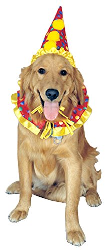 - Rubie's Clown Pet Costume Collar and Hat
