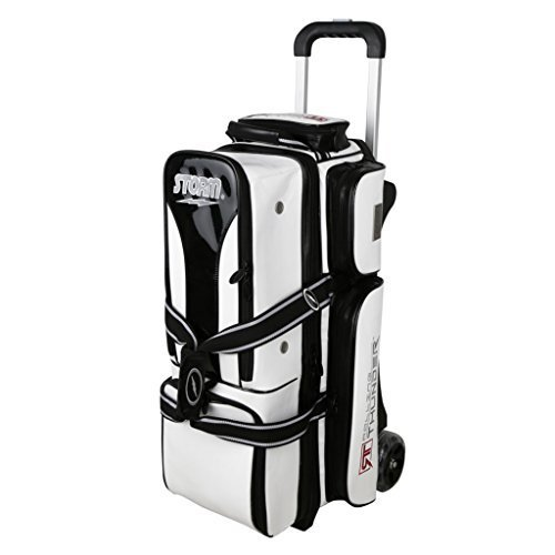 Storm 3 Ball Rolling Thunder Signature Series Bowling Bag- White/Black () by Storm Bowling Products (Image #1)