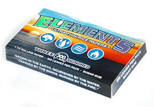 (ELEMENTS 300 Ultra Thin Rice Rolling Paper 1.25 1 1/4 Size, 1 Pack = 300 Leaves )