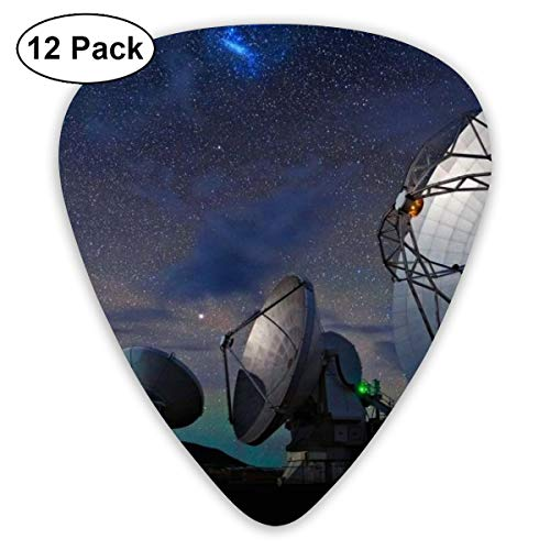 - Qbeir 12-Pack Guitar Picks Plectrums 0.46mm / 0.71mm / 0.96mm Radar Station Celluloid for Bass Ukulele