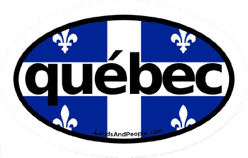 LandsAndPeople Quebec in French Canada Flag Car Bumper Sticker Decal Oval (Best Of Quebec City)