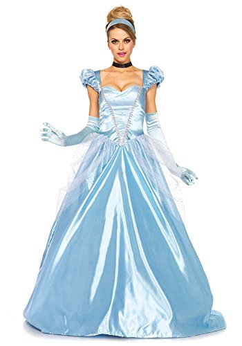 Leg Avenue Disney 3Pc. Classic Cinderella Costume, Blue, Large (Adult Disney Characters Costumes)