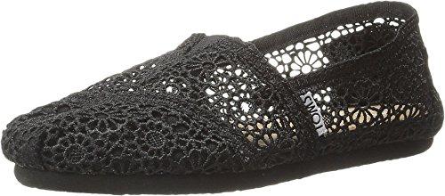 TOMS Women's Crochet Classics Black Morocco Crochet Loafer 12 B (M)