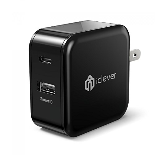USB C Charger, iClever BoostCube 30W Dual USB Wall Charger with USB-...