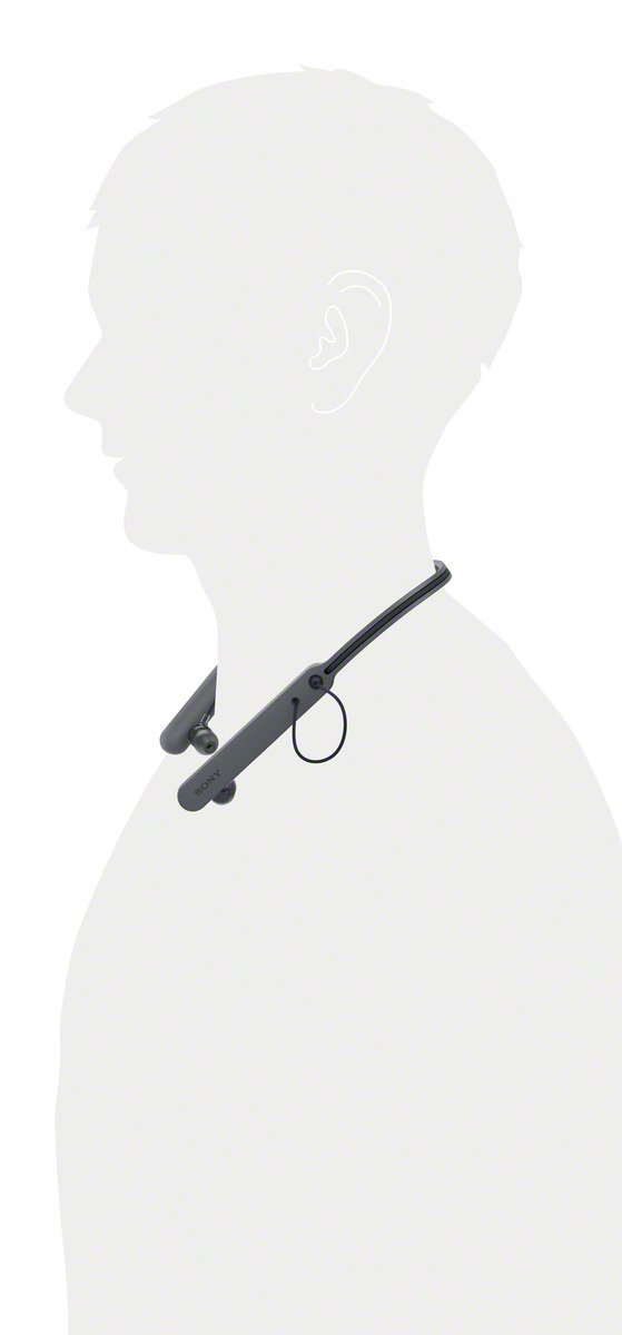 Sony WIC400 - Auriculares Neckband inalámbricos (Cable retráctil, Bluetooth, vibración Llamadas, NFC, 20 Horas de autonomía) Negro: Sony: Amazon.es: ...