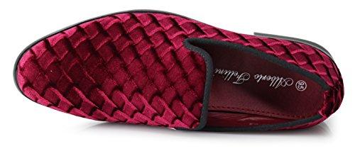 Vintage Romeo Enzo Slip Plain Dress Dress On Shoes Tuxedo Burgundy 07 Loafers Shoes Velvet SPK03 Men's Classic tdpq8wrxfq