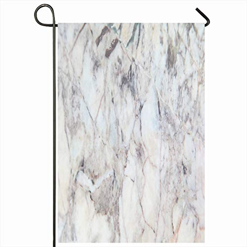 Ahawoso Garden Flag 12x18 Inches Grey Wall Brown Marble Tiles Abstract Nature Black Gray Bright Ceramic Closeup Counter Floor Stone Decorative Seasonal Double Sided Home House Outdoor Yard Sign
