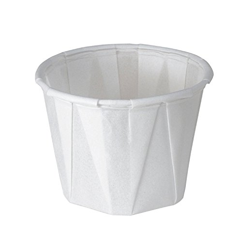 SOLO 100-2050 1-oz. White Treated Paper Pleated Soufflé Portion Cup (2 Packs of 250 Cups)