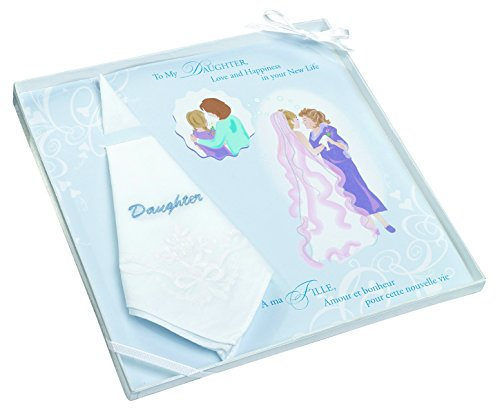 - Lillian Rose Daughter Embroidered Hankie, 12-Inch