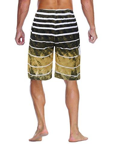 cf85ead53b9d3 Nonwe Men's Beachwear Quick Dry Holiday Drawstring Striped Swim Trunks  Ginger 38 by Nonwe (Image
