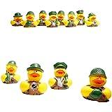 One Dozen (12) Camoflage Rubber Duck Party Favors