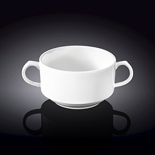 Wilmax 991230 350 ml Soup Cup44; White - Pack of 48 by Wilmax